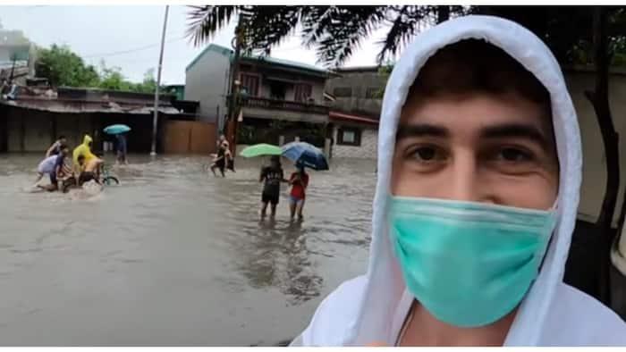 Vlogger, namangha kung paano hinarap ng mga Pinoy ang baha at lindol na sabay na dinanas