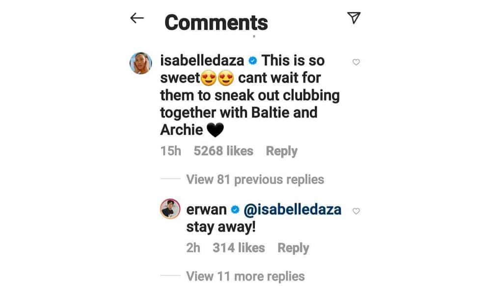 "Erwan Heussaff hilariously dismissed Isabelle Daza's comment on Dahlia, Thylane ""clubbing"" soon"