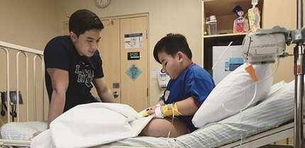 Baeby Baste gets taken to hospital due to severe illness; Alden pays him a visit