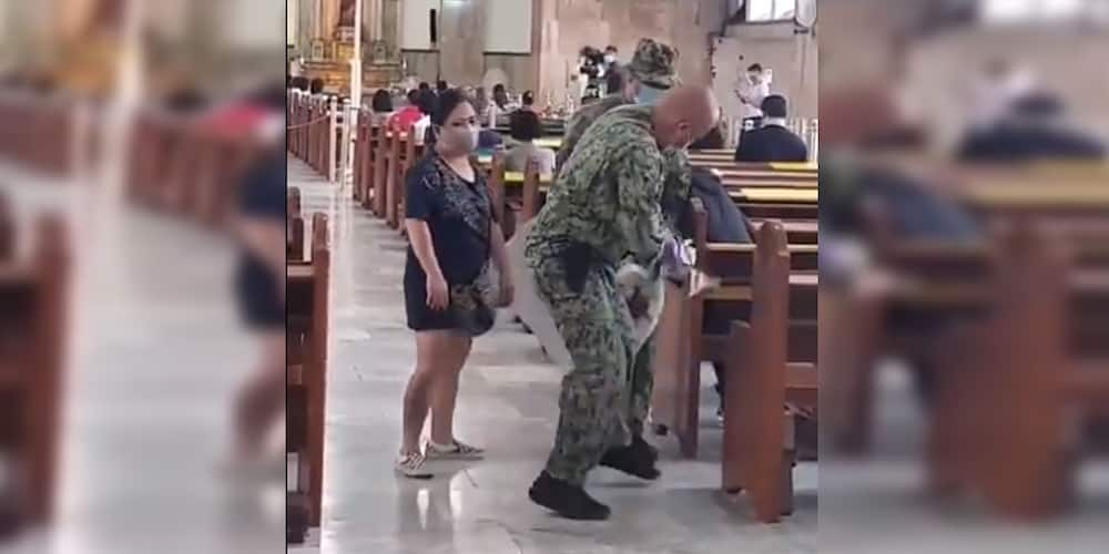 Video of cops seizing protest materials inside Quiapo Church while mass is ongoing goes viral