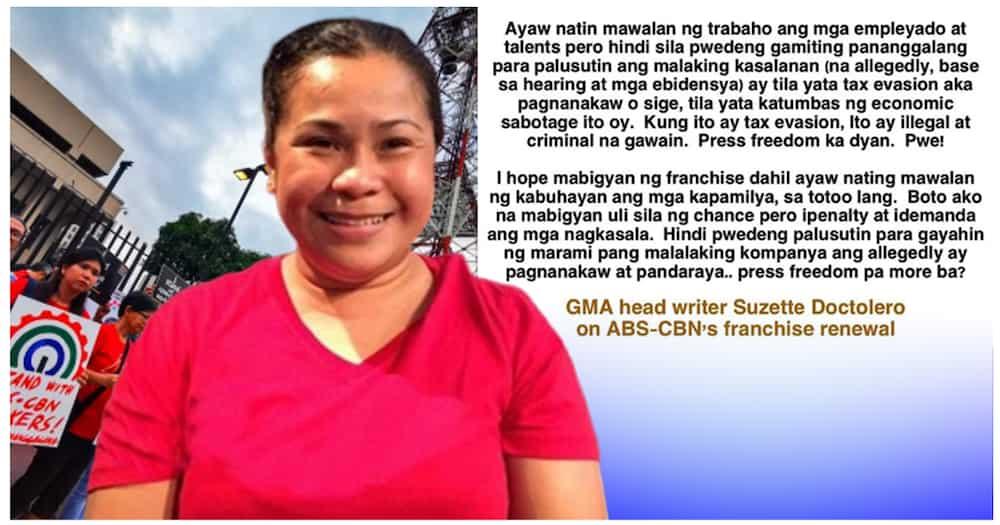 Suzette Doctolero, nagbahagi ng kanyang opinyon hinggil sa ABS-CBN franchise renewal