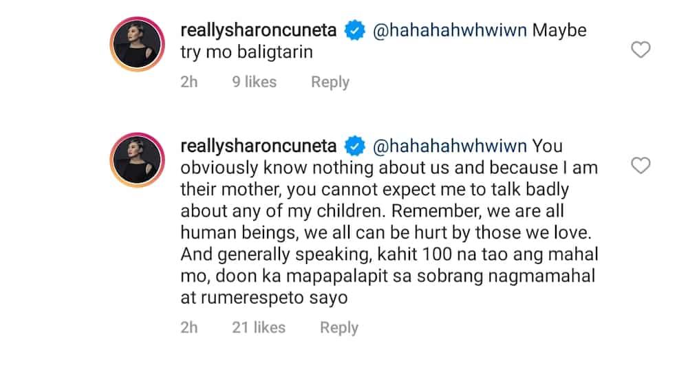 Sharon Cuneta, inalmahan ang netizen sa komento nito sa kanyang pagsorpresa sa anak