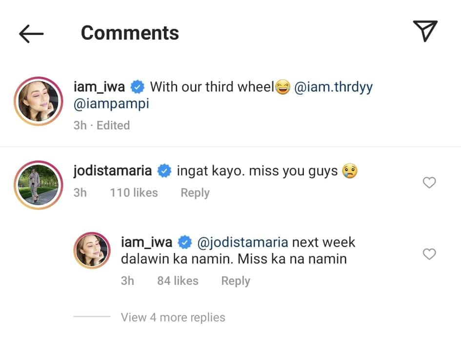 Iwa Moto posts sweet selfie with Pampi Lacson; Jodi Sta. Maria reacts