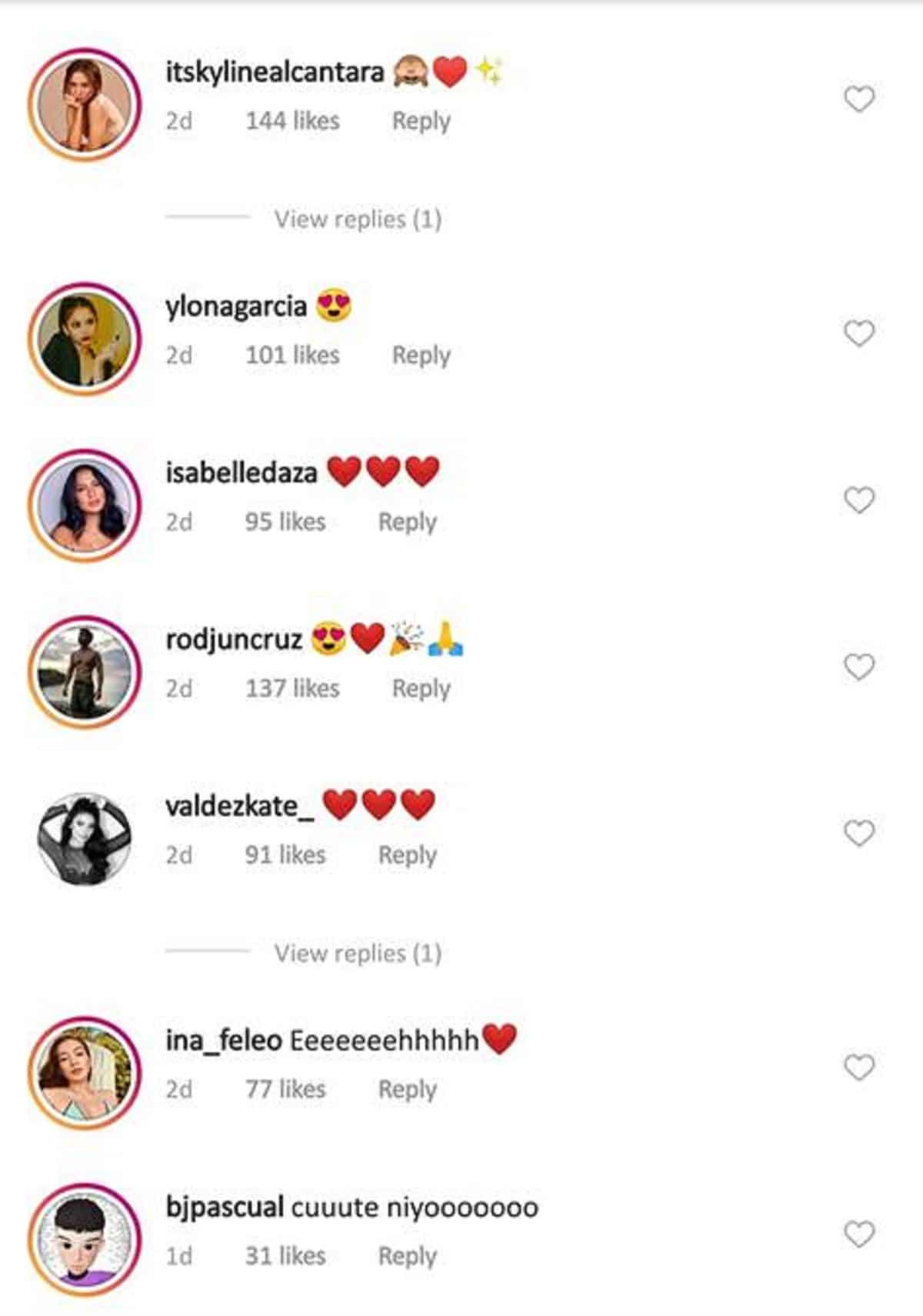 Celebrities, kilig na kilig rin sa sweetness nila Rayver Cruz at Janine Gutierrez