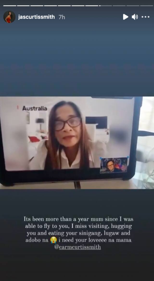 "Jasmine Curtis, naiyak sa video greeting ni Mommy Carmen: ""We haven't spoken kasi"""