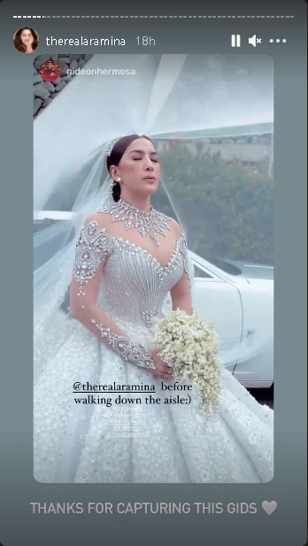 Video ni Ara Mina na pinapa-relax ang sarili bago ang bonggang bridal walk, viral