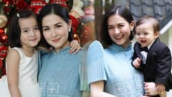 Marian Rivera together with Zia & Sixto attend the wedding of Dingdong Dantes' brother