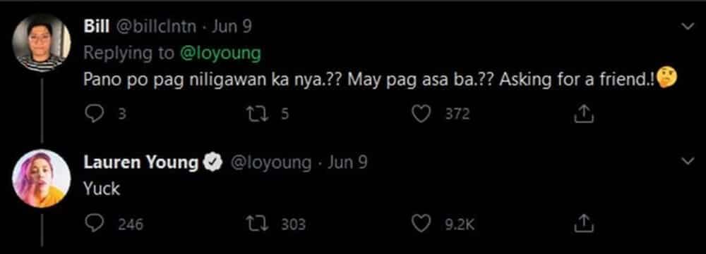 Lauren Young responds to 'Paano pag niligawan ka ni DJ Loonyo?' comment