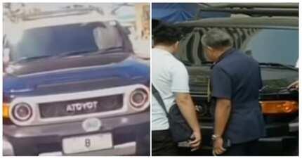 SUV na may plakang no. 8 mula sa viral video, nag-iba na raw ang kulay