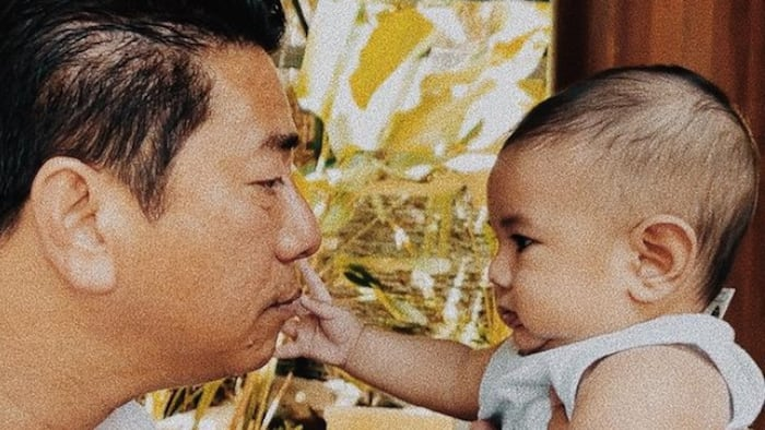 """Meryll Soriano shares adorable snapshot of Willie Revillame and her baby's """"serious talk"""""""