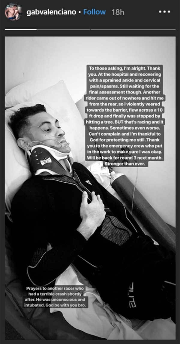 Gab Valenciano admitted to the hospital due to motorcycle racing accident