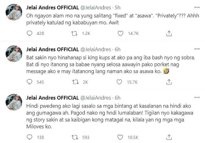 """""""Yung mga pangit ang kakapal ng mukha!"""" Iwa Moto comments on Jelai-Jon issue"""
