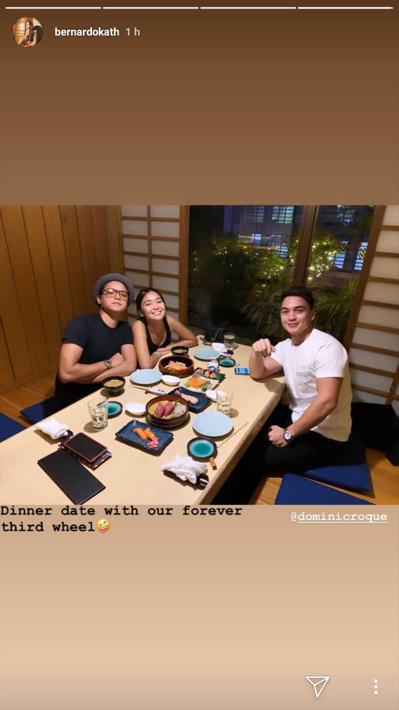 Kathryn Bernardo and Daniel Padilla enjoy dinner date with their 'forever third wheel'