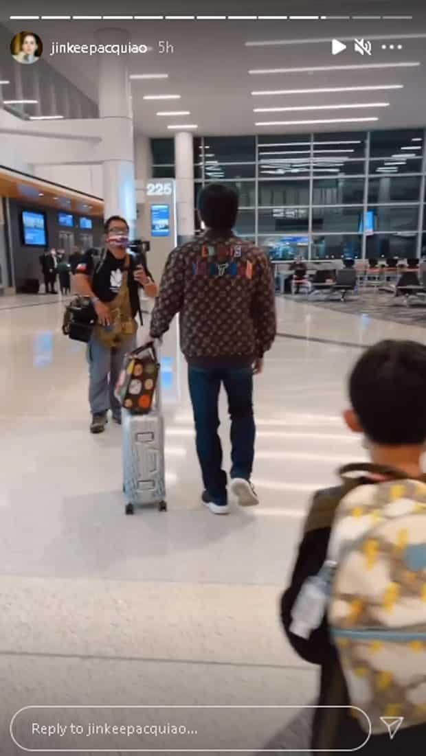 LV OOTD ni Sen. Manny Pacquiao sa airport, patok sa netizens