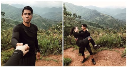 Kylie and Aljur Abrenica conquer the summit of Mt. Batolusong for their honeymoon