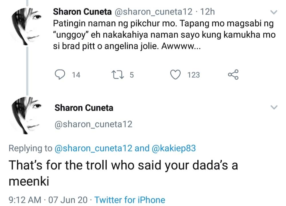 Sharon Cuneta, rumesbak sa nagsabing mukhang unggoy si Kiko Pangilinan