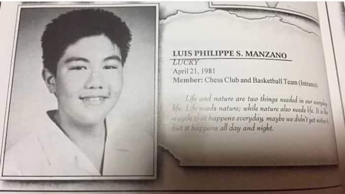 "Luis Manzano reacts to his yearbook write-up: ""Ano pinagsasabi ko"""