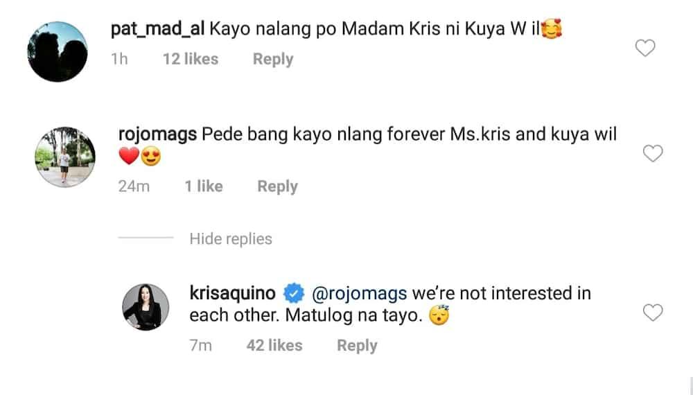 Kris Aquino, prinangka ang netizens na gustong maging sila nia Willie Revillame