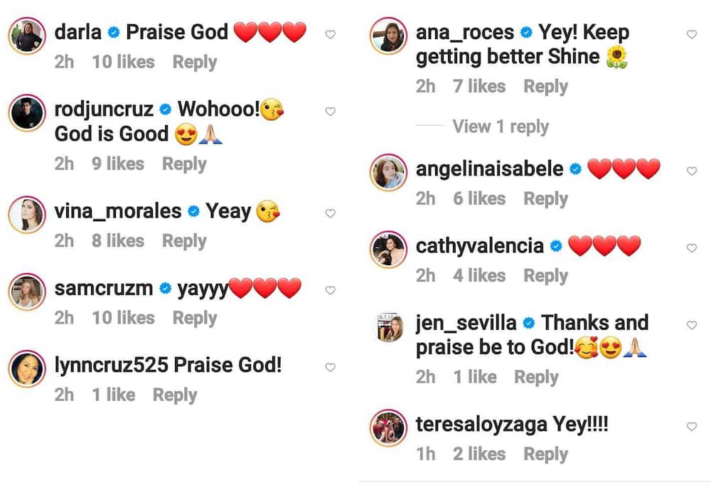 Sunshine Cruz recovers from COVID-19; celebrities express joy for her