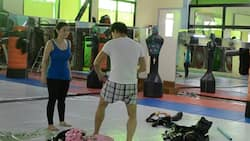 Mariel Padilla shows video of Robin Padilla teaching her self-defense