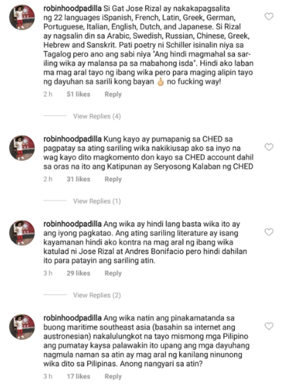 Robin Padilla, may matapang na pahayag laban sa pag alis ng wikang Filipino sa kolehiyo