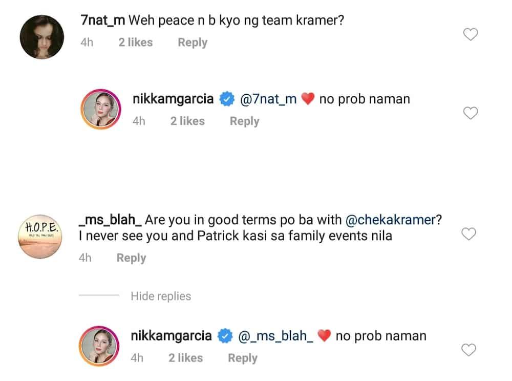 Nikka Garcia gives update on relationship with sis-in-law Cheska Garcia Kramer