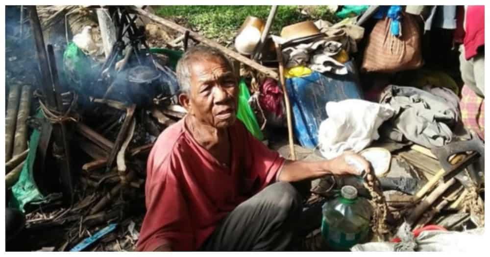 98-anyos na lolo na mala-pugad ng ibon ang tirahan, napatayuan ng maayos na bahay