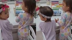"Video of baby Dahlia, baby Thylane ""helping"" Erwan Heussaff make breakfast goes viral"