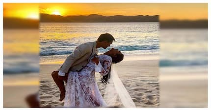 Sealed with a kiss! Iza Calzado is now officially Mrs. Wintle