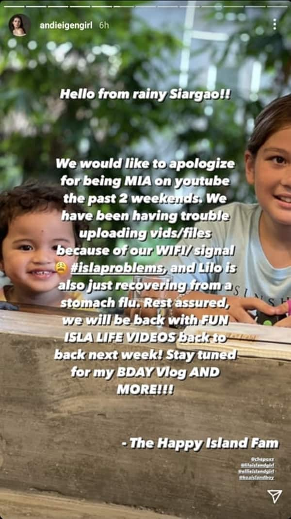 """Andi Eigenmann apologizes for being """"missing in action"""" on YouTube in viral post"""