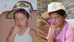 Ellie Eigenmann recreates her dad Jake Ejercito's adorable childhood photo
