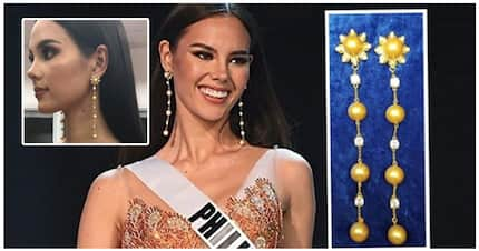 Ikaw na talaga! Catriona Gray wore a self designed earrings during the Prelims