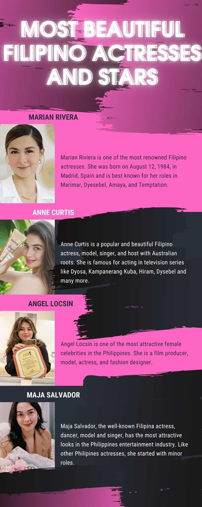 beautiful Filipino actresses and stars