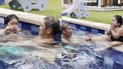 Video ng kwentuhan nina Vic Sotto, baby Tali habang nagsi-swimming, viral na