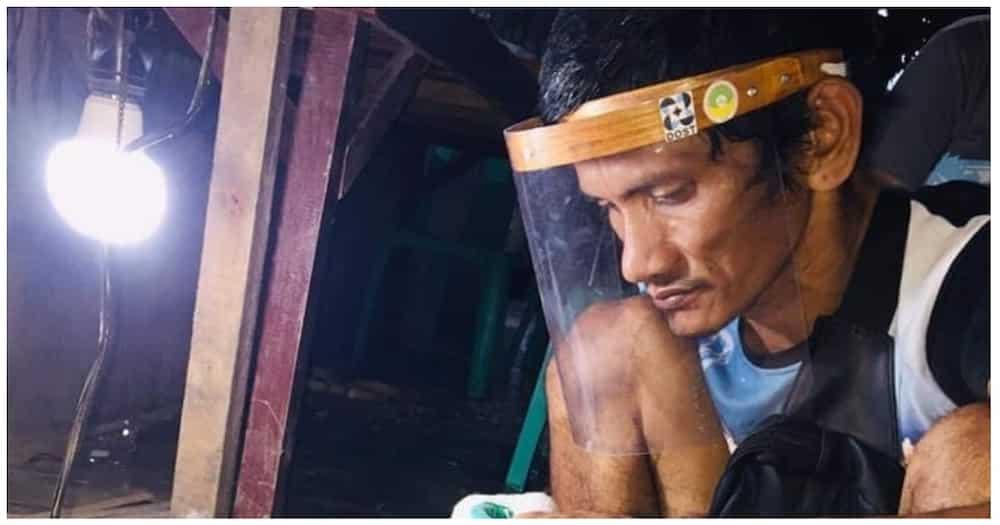 Ilang magsasaka sa Cotabato, hinangaan sa paggawa ng bamboo face shield
