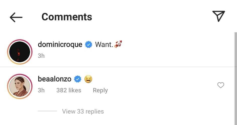 Bea Alonzo, nag-react sa fast food resto post ni Dominic Roque; netizens, kinilig