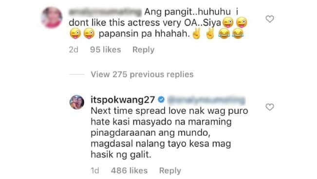 """Pokwang lectures rude netizen who called her """"pangit"""" and """"papansin"""""""