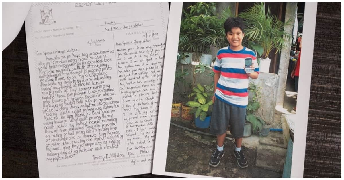 Pinoy child who was sponsored by George H.W Bush is now successful and happy