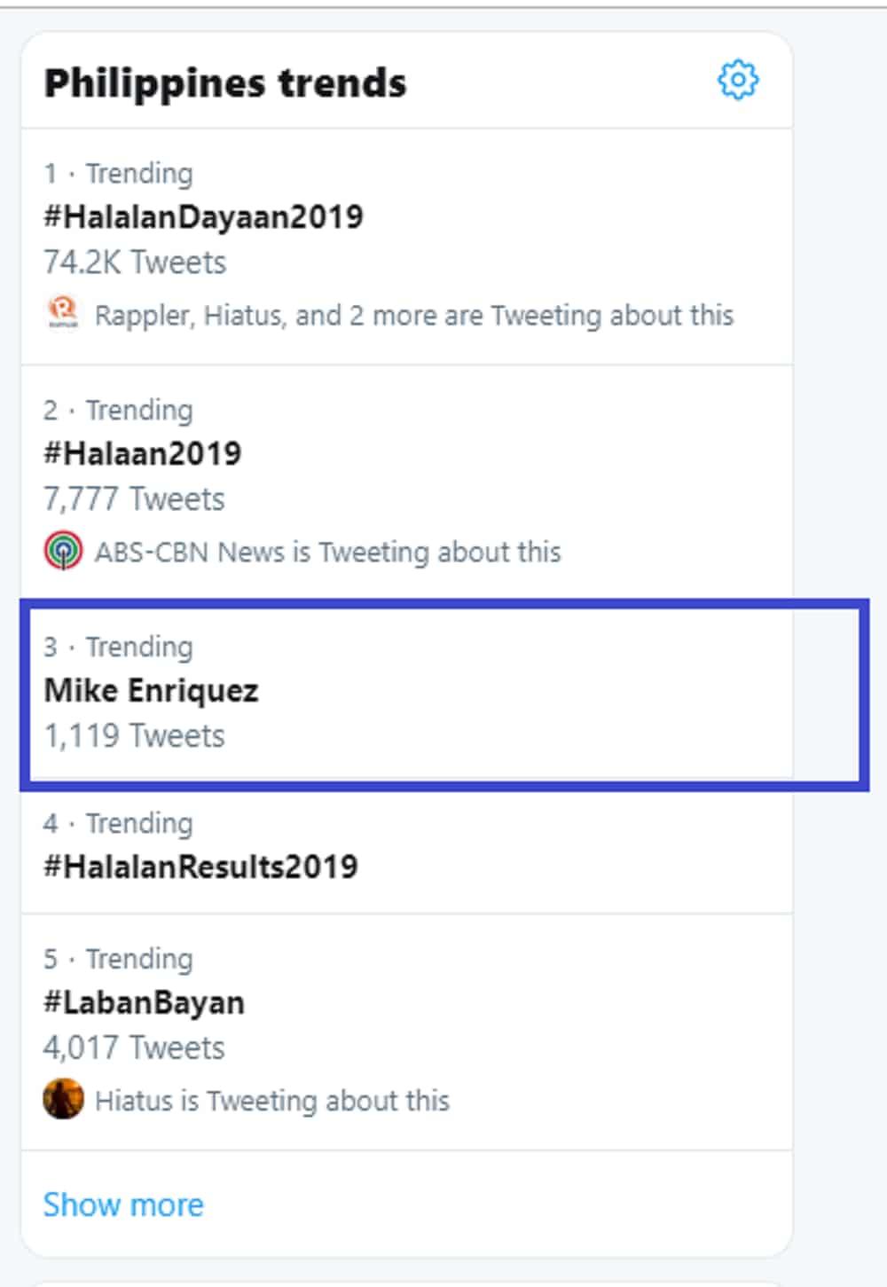 Mike Enriquez gains praises for his remarks about election 2019