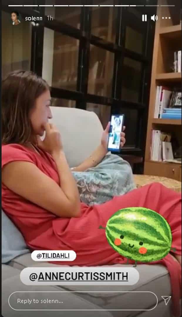 Video ni Solenn Heussaff na tinuturuan si Anne Curtis na mag-slice ng watermelon, nag-viral