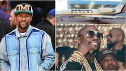 Floyd Mayweather shows off his customized private jet and expensive jewelries
