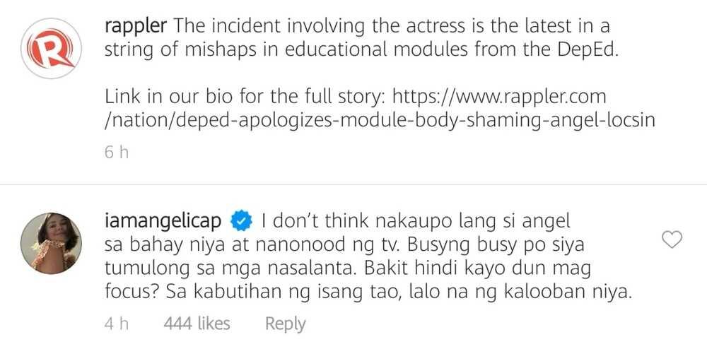 Angelica Panganiban, ipinagtanggol si Angel Locsin kaugnay sa body-shaming