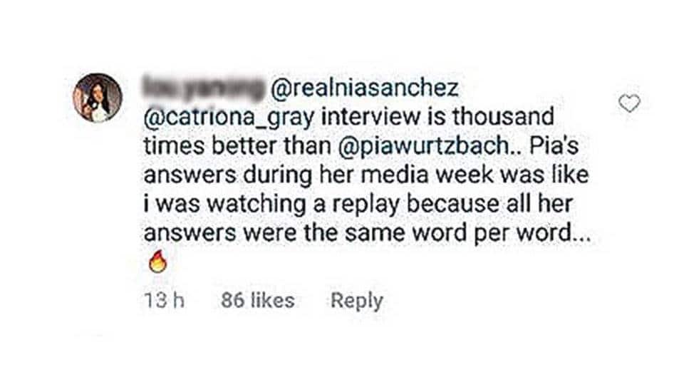 Former Miss Universe runner-up speaks up on comparison issue between Catriona & Pia
