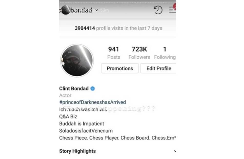 Clint Bondad shows total number of people who visited his IG posts