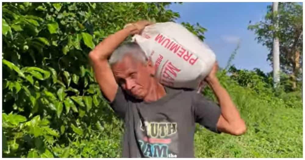 Nag-viral na PWD na tindero ng walis, naghahakot ng semento para sa ipinatatayong tindahan