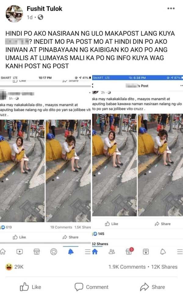 Babaeng inakalang nasiraan ng ulo, inilantad ang tunay na pangyayari sa social media