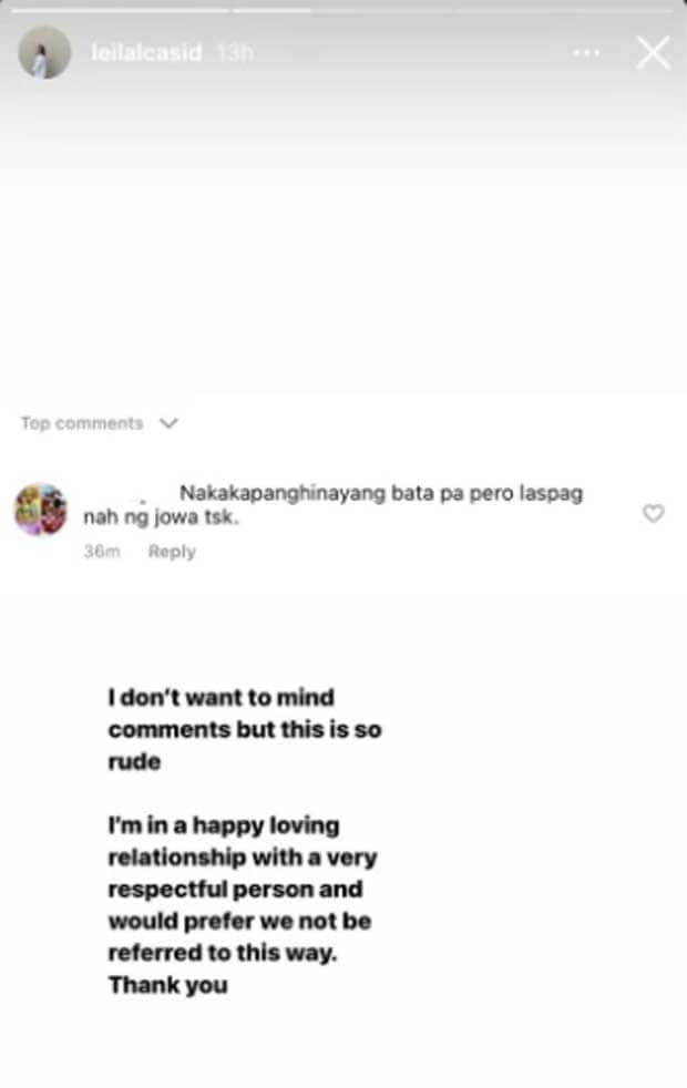 Leila Alcasid slams basher who made rude comment about her and boyfriend
