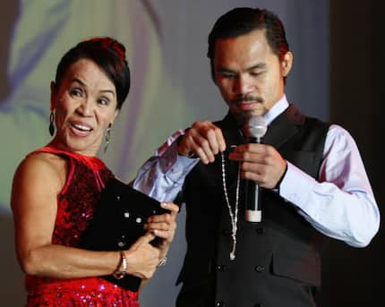 Mommy D's boyfriend reveals why she was absent during Pacman's match