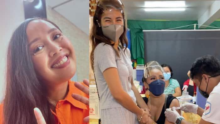Kakai Bautista, napatawa ang frontliners habang binabakunahan; bumanat ng hugot line