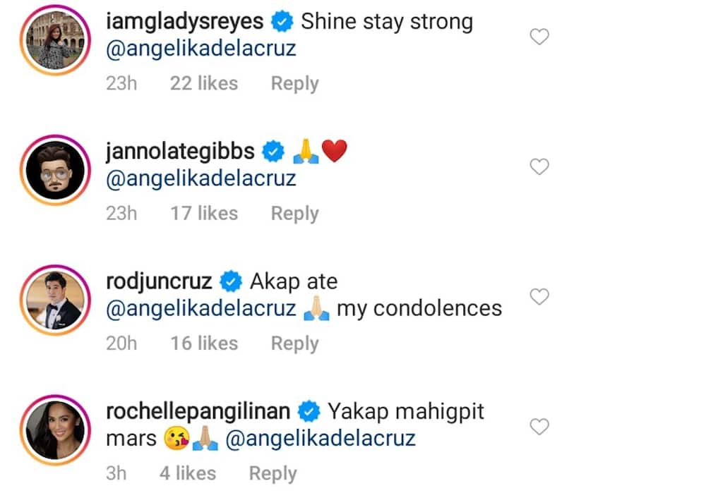 ABS-CBN & GMA-7 celebs react to the death of Mika and Angelika dela Cruz's dad